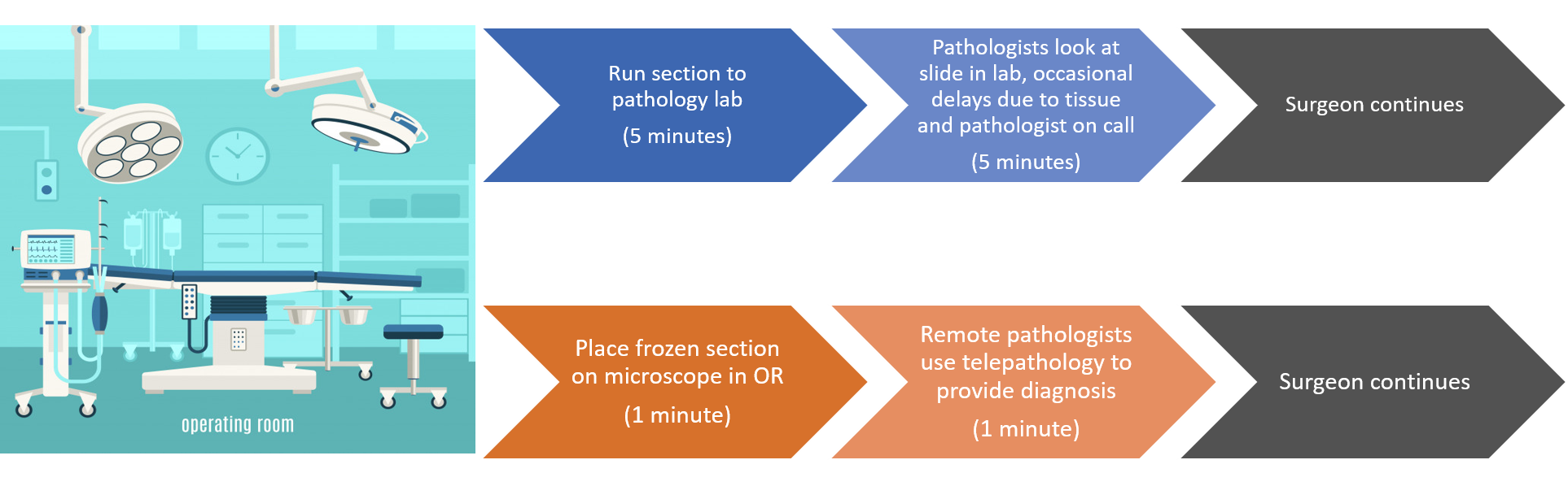 remote telepathology for frozen sections diagram