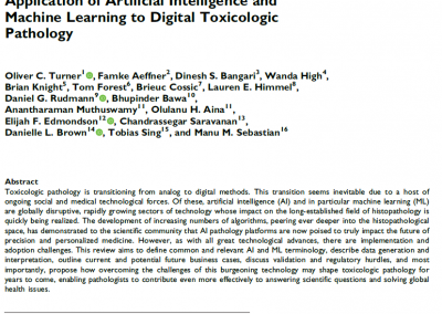 Enabling Technologies for AI in Toxicologic Pathology