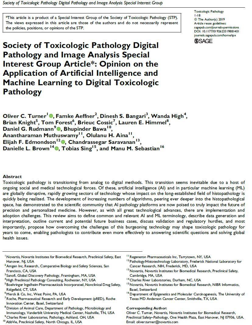 Enabling Technologies for AI in Toxicologic Pathology