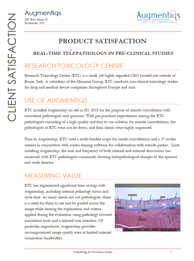 Research Toxicology Centre Client Testimonial