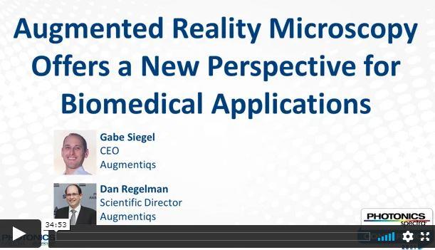 Photonics Webinar on Augmented Reality